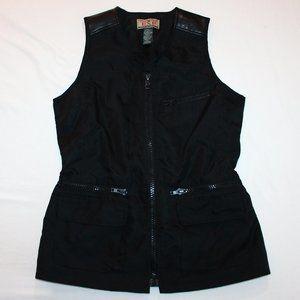 (M) Vintage 80's EXPRESS Black Zip Lined Vest